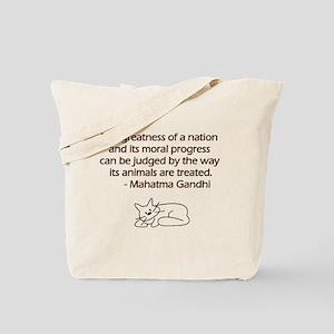 Gandhi Cat Quote Tote Bag