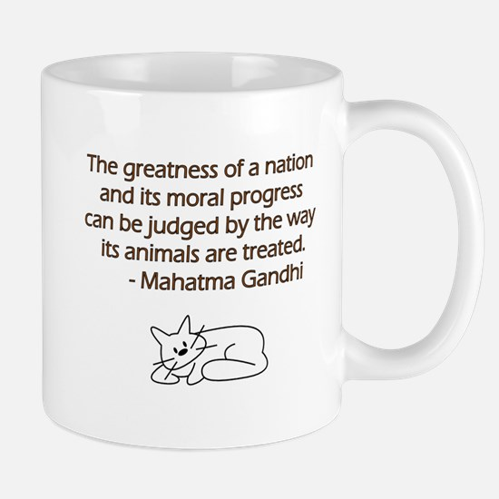 Gandhi Cat Quote Mug