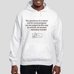 Gandhi Cat Quote Hooded Sweatshirt