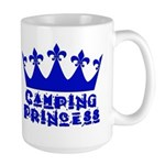 Camping Princess - Blue Large Mug