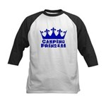 Camping Princess - Blue Kids Baseball Jersey