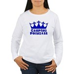 Camping Princess - Blue Women's Long Sleeve T-Shir