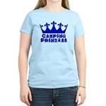 Camping Princess - Blue Women's Light T-Shirt