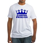Camping Princess - Blue Fitted T-Shirt