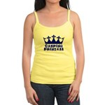 Camping Princess - Blue Jr. Spaghetti Tank