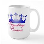 Kayaking Princess - Blue/Pink Large Mug