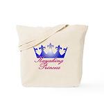 Kayaking Princess - Blue/Pink Tote Bag