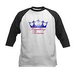 Kayaking Princess - Blue/Pink Kids Baseball Jersey