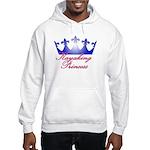 Kayaking Princess - Blue/Pink Hooded Sweatshirt