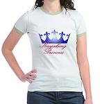 Kayaking Princess - Blue/Pink Jr. Ringer T-Shirt