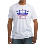 Kayaking Princess - Blue/Pink Fitted T-Shirt