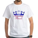 Kayaking Princess - Blue/Pink White T-Shirt