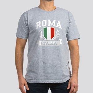 Roma Italia Men's Fitted T-Shirt (dark)