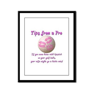 Lipstick On Your Golf Balls Framed Panel Print