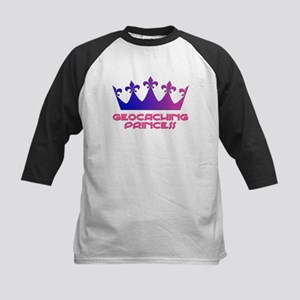 Geocaching Princess Blue/Pink Kids Baseball Jersey