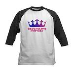 Geocaching Princess Blue/Pink Kids Baseball Jersey