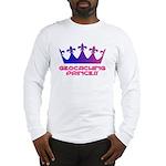 Geocaching Princess Blue/Pink Long Sleeve T-Shirt