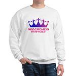 Geocaching Princess Blue/Pink Sweatshirt