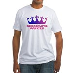 Geocaching Princess Blue/Pink Fitted T-Shirt