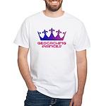 Geocaching Princess Blue/Pink White T-Shirt