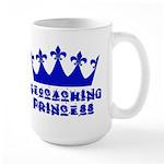 Geocaching Princess - Blue Large Mug