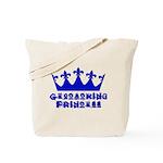 Geocaching Princess - Blue Tote Bag