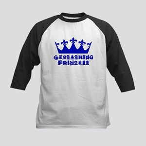 Geocaching Princess - Blue Kids Baseball Jersey