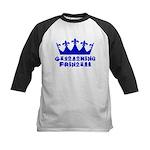 Geocaching Princess - Blue Kids Baseball Jersey