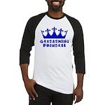 Geocaching Princess - Blue Baseball Jersey