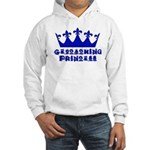 Geocaching Princess - Blue Hooded Sweatshirt