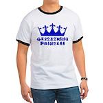 Geocaching Princess - Blue Ringer T
