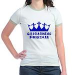 Geocaching Princess - Blue Jr. Ringer T-Shirt