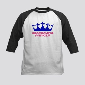 Geocaching Princess - Blue 2 Kids Baseball Jersey