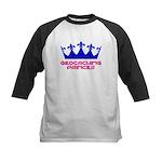 Geocaching Princess - Blue 2 Kids Baseball Jersey