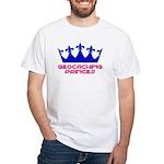 Geocaching Princess - Blue 2 White T-Shirt