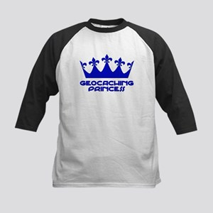 Geocaching Princess - Blue3 Kids Baseball Jersey