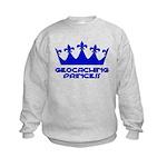 Geocaching Princess - Blue3 Kids Sweatshirt