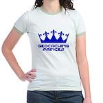 Geocaching Princess - Blue3 Jr. Ringer T-Shirt