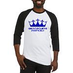 Geocaching Princess - Blue3 Baseball Jersey