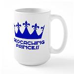 Geocaching Princess - Blue3 Large Mug