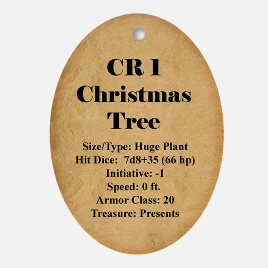 CR 1 Tree Oval Ornament