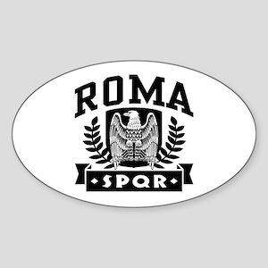 Roma SPQR Oval Sticker
