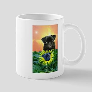 Sunflower Pug Mug