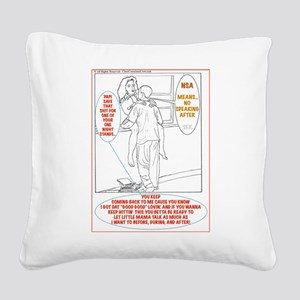 NSA Square Canvas Pillow