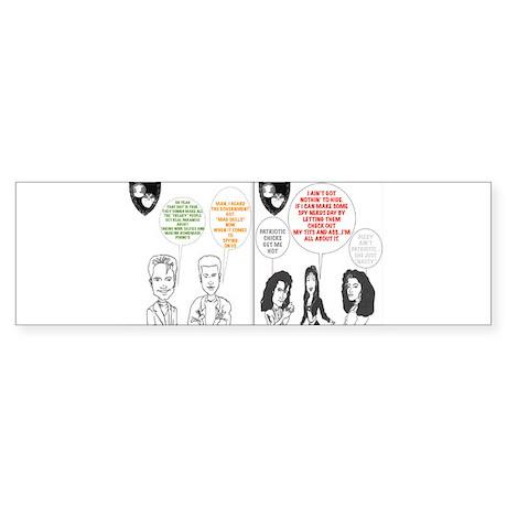 PATRIOTIC CHICK Bumper Sticker