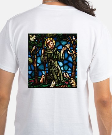 St Francis of Assisi White T-Shirt