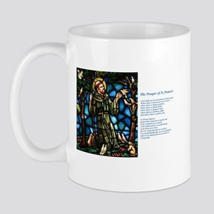 St Francis of Assisi and Peace Prayer Mug
