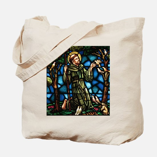 St Francis of Assisi and the Peace Prayer Tote Bag
