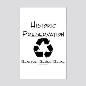 Preservation is Recycling Mini Poster Print