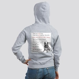 THEY are not Pugs (Serious Frenchie) Women's Zip H